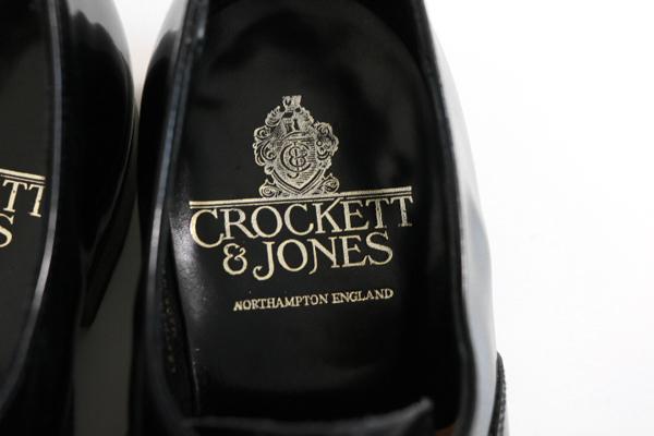 ★良品★ CROCKETT&JONES クロケットアンドジョーンズ◆ ドレスシューズ エナメル 黒 5 1/2(24~24.5) レザー 革靴 (ツリー付)◆K-4_画像6
