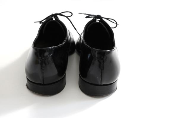 ★良品★ CROCKETT&JONES クロケットアンドジョーンズ◆ ドレスシューズ エナメル 黒 5 1/2(24~24.5) レザー 革靴 (ツリー付)◆K-4_画像4