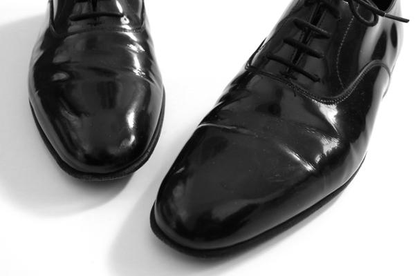 ★良品★ CROCKETT&JONES クロケットアンドジョーンズ◆ ドレスシューズ エナメル 黒 5 1/2(24~24.5) レザー 革靴 (ツリー付)◆K-4_画像3