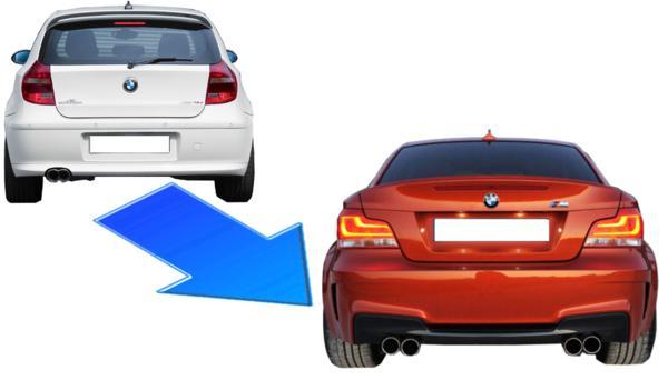 BMW E87 E81 116i 118i 120i 130i M1 タイプ リア バンパー スポイラー 2004~2012 UF16 UE16 UF18 UF20 UD20 UF30 UD30 51120035911 ⑤
