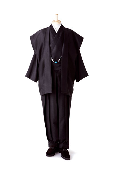 【即決】秋 和装の正装 SILK 男の創作着物スーツ 絹雅No.10_AW1906~9/26締め_画像3