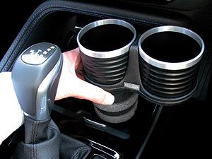 【M's】F48 BMW X1(2015y-)ALCABO ドリンクホルダー(ブラック カップタイプ)//社外品 アルカボ カップホルダー 左H/右H共通 AL-M313B_※ 画像はBK+リングの取付けサンプル
