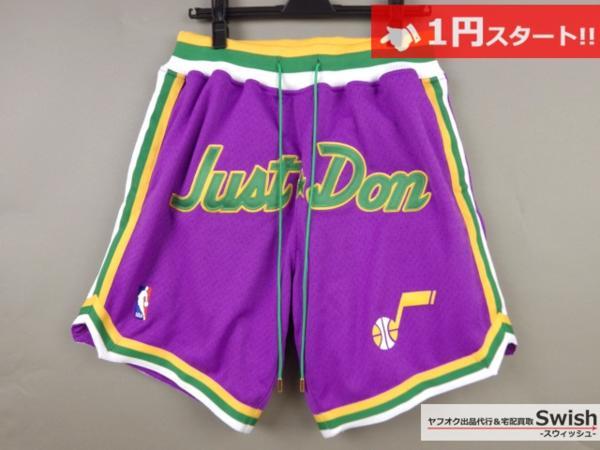A895●just don ジャストドン●新品 JAZZ SHORTS バスケット ショーツ/ショートパンツ M 紫●
