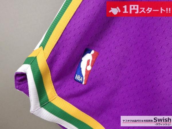 A895●just don ジャストドン●新品 JAZZ SHORTS バスケット ショーツ/ショートパンツ M 紫●_画像3