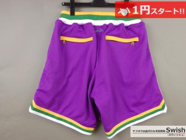 A895●just don ジャストドン●新品 JAZZ SHORTS バスケット ショーツ/ショートパンツ M 紫●_画像5