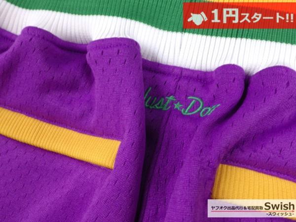 A895●just don ジャストドン●新品 JAZZ SHORTS バスケット ショーツ/ショートパンツ M 紫●_画像6