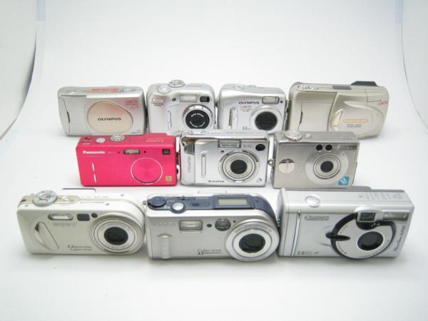 ★ハロ-カメラ★5075 SONY DSC-P8 含むデジタルカメラ・ジャンク品 10台【同梱不可】