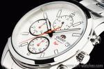 1円 オリエント 海外 白 ホワイトフェイス 日本製 クロノグラフ 50m防水 腕時計