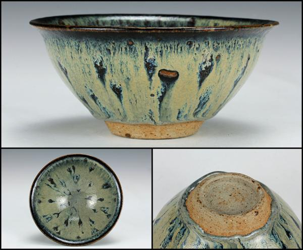 【佳香】時代 中国古玩 窯変天目茶碗 茶道具 木箱 保証