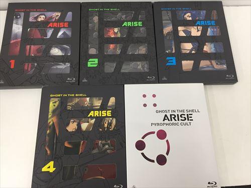 sum●中古・攻殻機動隊ARISE Blu-ray全4巻+攻殻機動隊ARISE PYROPHORIC CULT(Blu-ray)セット