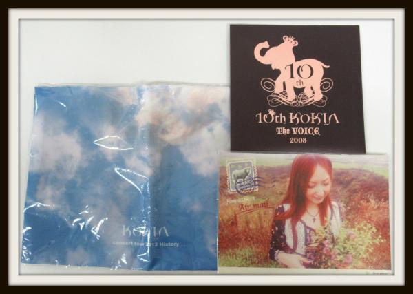 未使用★KOKIA グッズセット/The VOICE 2008 10th/ハンカチ/バッグ/2012【04