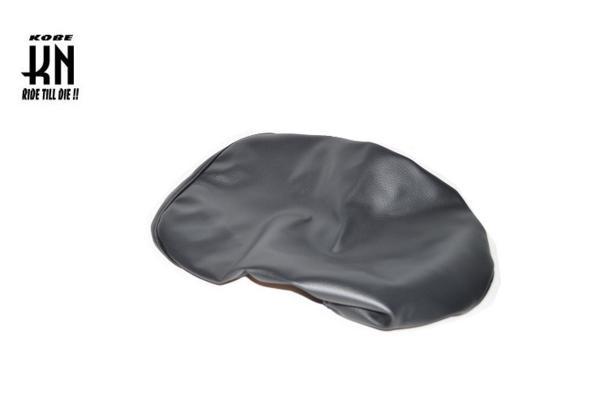 KN企画 APE50 エイプ50 シートカバー ブラック 黒 タッカーシート張替えシート タッカーシートカバー ゴム入りシートカバー SEATCOVER