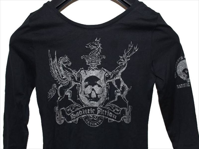 サディスティックアクション SADISTIC ACTION レディースチュニックTシャツ ブラック NO21 新品_画像5