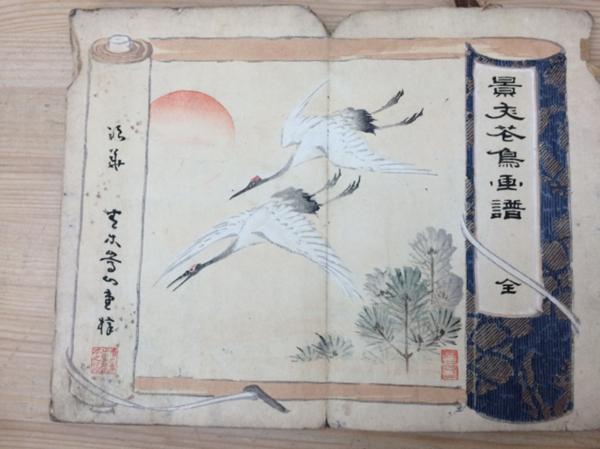 景文花鳥画譜 木版画20図(不揃)/松村景文/明治25年 YAF738_画像5