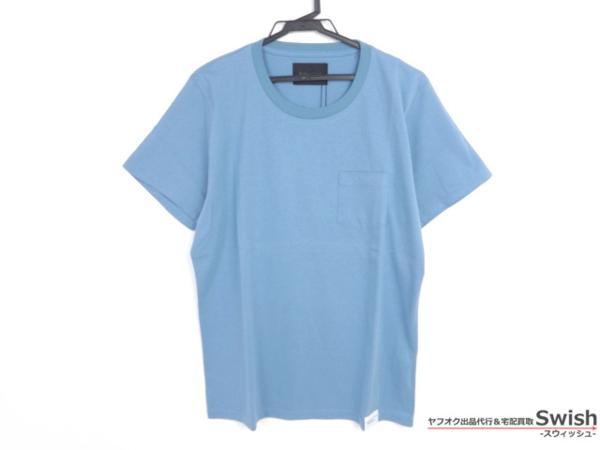 Z177■ラウンジリザード■新品 胸ポケット付きTシャツ 2 青■_画像1