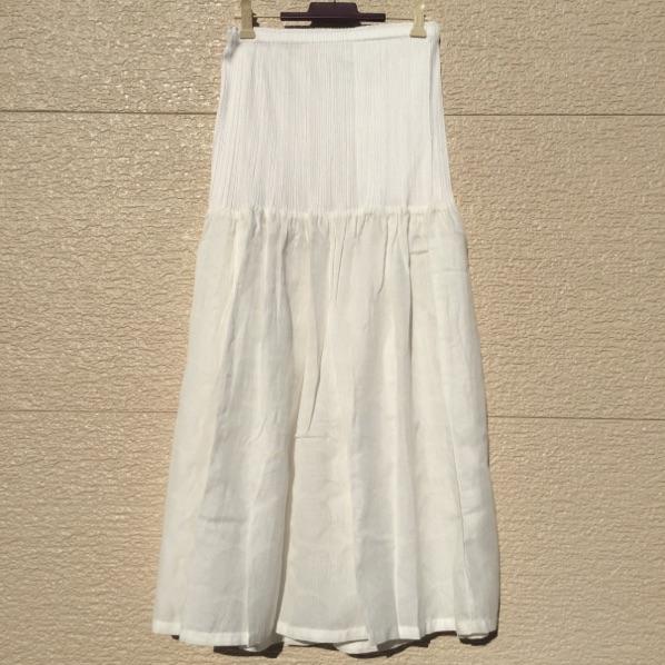 即決 新品 PLEATS PLEASE プリーツプリーズ スカート 5 白 何点同梱でも佐川急便¥730(沖縄、離島を除く)