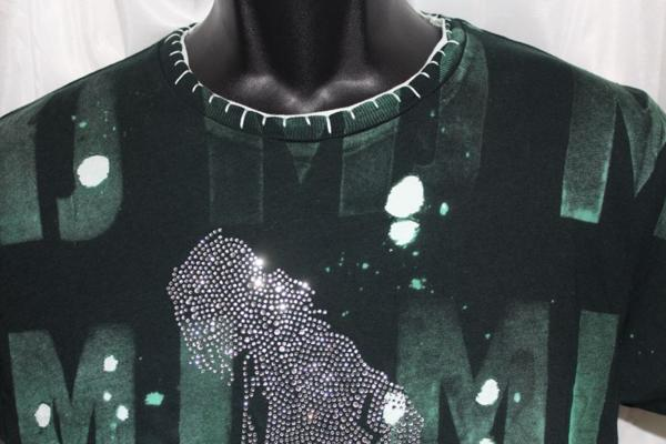 アイコニッククチュール Iconic Couture マイケルジャクソン Michael Jackson メンズ半袖Tシャツ グリーン Mサイズ 新品_画像3