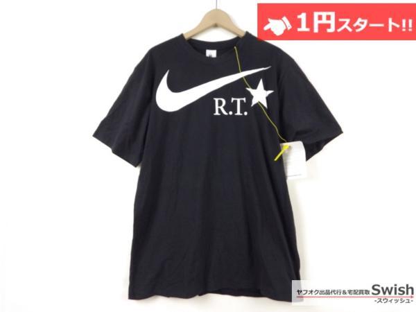 A895●Nike Lab ナイキ x R.T. Riccardo Tisci リカルドティッシ●新品 TEE ロゴ Tシャツ L 黒●