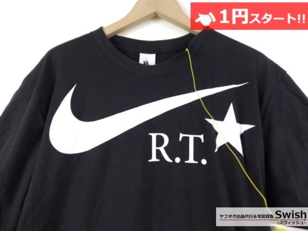 A895●Nike Lab ナイキ x R.T. Riccardo Tisci リカルドティッシ●新品 TEE ロゴ Tシャツ L 黒●_画像2