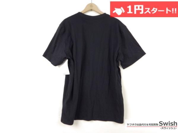 A895●Nike Lab ナイキ x R.T. Riccardo Tisci リカルドティッシ●新品 TEE ロゴ Tシャツ L 黒●_画像3