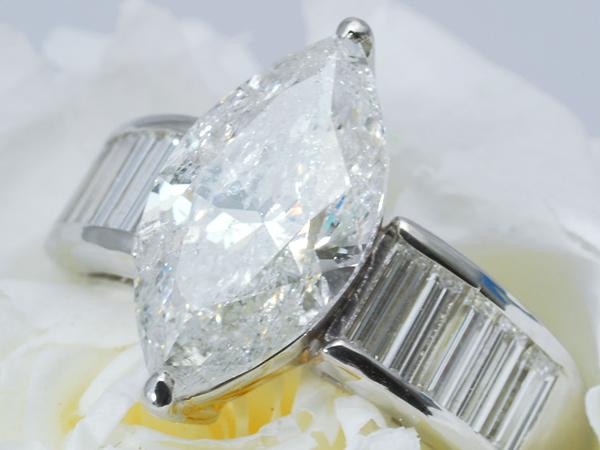 [ボーナス1円]1980万『世界一豪華なゴージャスな輝き3.056ct』F/SI2天然ダイヤモンドリング Pt900 12.5号 鑑定書
