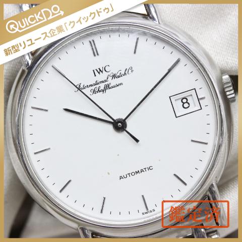 IWC シャフハウゼン 腕時計 デイト ラウンド 白文字盤 オートマチック メンズ 純正SSベルト 稼動品