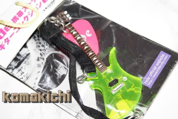 hide ギターコレクション フィギュア ストラップ ピック付 ヒデ XJAPAN HEADWAX ☆ ライブグッズの画像