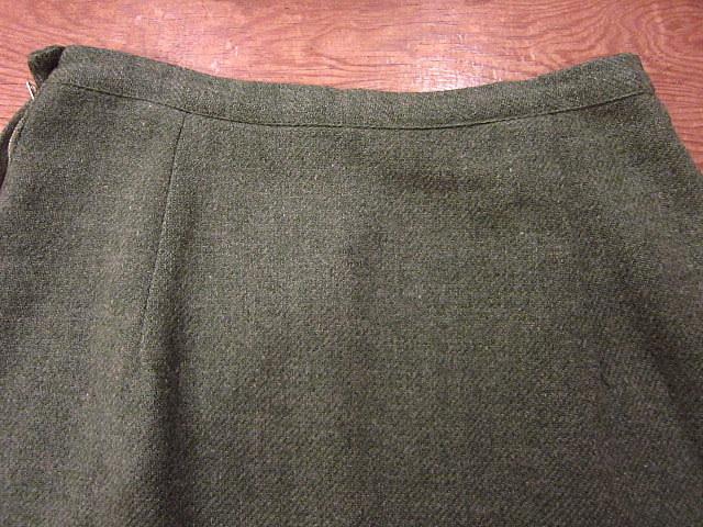 ビンテージ60's70's★ウール台形スカートモスグリーンW64cm★50's80's古着屋卸タイトスカートレトロ冬物_画像9