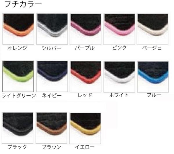 三菱 07スーパーグレート 運/助SET フロアマット GR/レッド_画像2