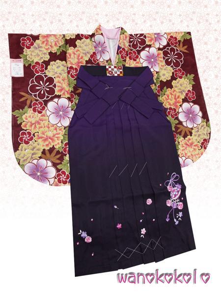 【和のこころキッズ】二尺袖着物・袴セット◇小学校卒業式◇D-1_画像1