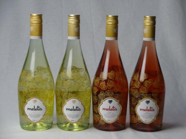 4本セット 甘口スパークリングロゼ2本 白ワイン2本 ビセン_画像1