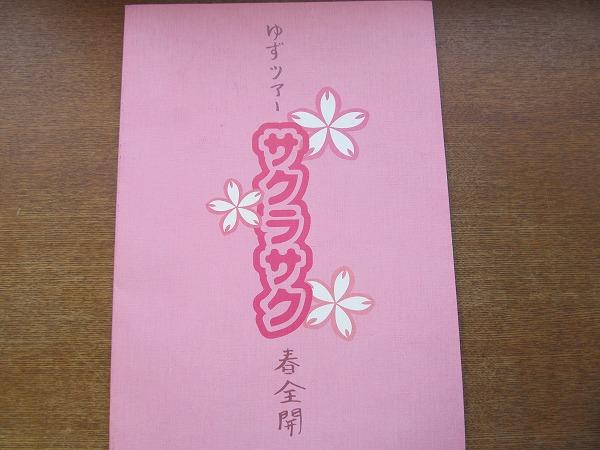 ツアーパンフ「ゆず サクラサク」1999●北川悠仁/岩沢厚治