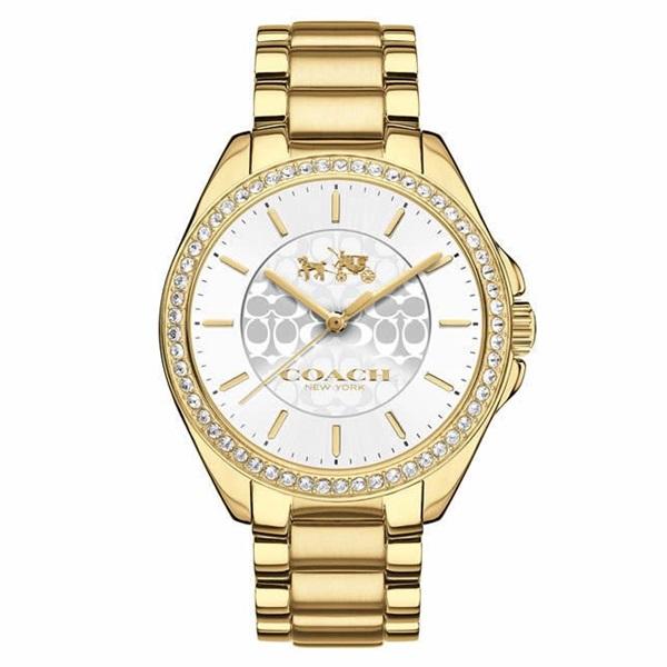 即納 コーチ 時計 レディース 腕時計 トリステン クリスタル シンプルデザイン ゴールド クリスタル ステンレス 14502470