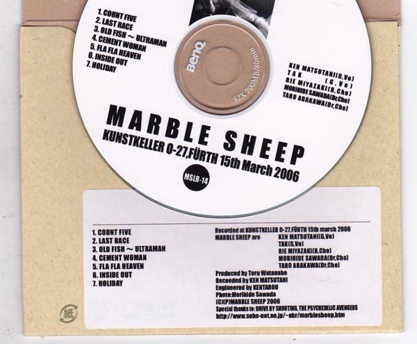 CD-R/MARBLE SHEEP / KUNSTKELLER 0-27,FURTH 15th March 2006_画像2