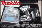 新品 makita 充電式インパクトドライバ 18V 6.0Ah TD170DRGXW ホワイト バッテリー×2 充電器付