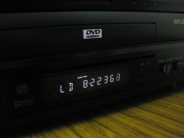 管8852【Pioneer】DVD/LDプレーヤー DVL-K88 ★起動OK/再生OK_画像2
