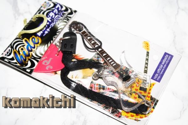 hide ギターコレクション フィギュア ストラップ ピック付 ヒデ XJAPAN HEADWAX クリアver ライブグッズの画像
