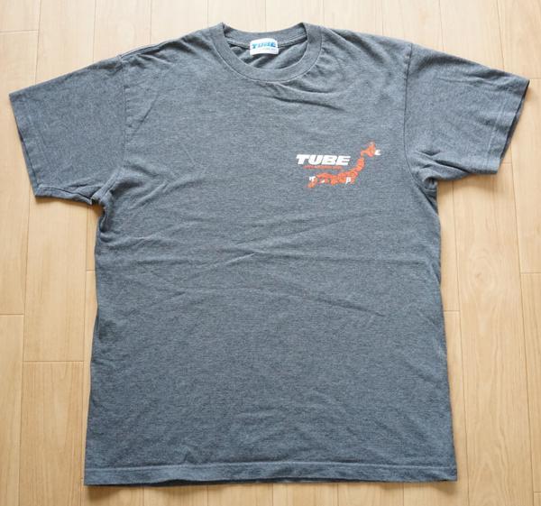 TUBE チューブ LIVE AROUND 2006 YOUR HOMETOWN 半袖Tシャツ コンサート ライブグッズ グレー メンズ