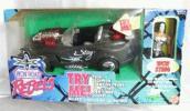 【TOYBIZ格闘技】★ライト&サウンドSTING黒の車とレ