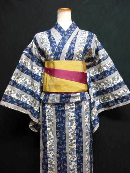 ☆オリジナル製レトロ木綿着物(ゆかた)+帯セット現品限り⑮_画像4