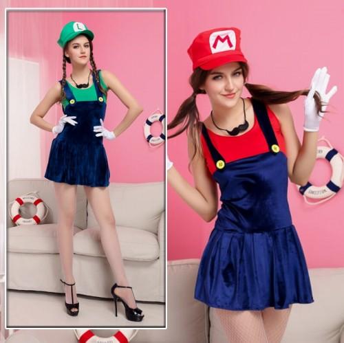 スーパーマリオ コスプレ衣装 ハロウィン 服 ルイージ【 同梱可能 | 即納】 グッズの画像