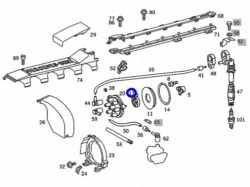 W140 Sクラス S600 S600C BOSCH製 ディストリビューターローター_画像2