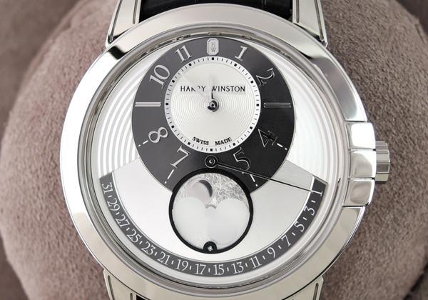 ハリーウィンストン HARRY WINSTON ミッドナイト MIDAMP42WW001 18KWG レトログラード ムーンフェイズ メンズ腕時計 保証書有 1Pダイヤ_ミッドナイト MIDAMP42WW001 18KWG