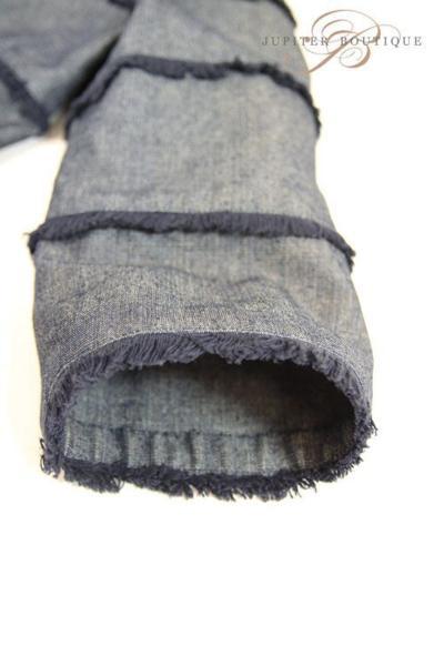 シャネル CHANEL スカート スーツ ジャケット デニム ネイビー 38_画像7