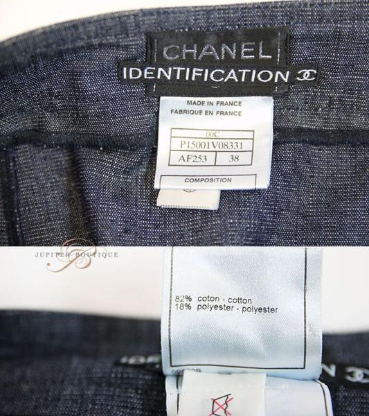 シャネル CHANEL スカート スーツ ジャケット デニム ネイビー 38_画像9
