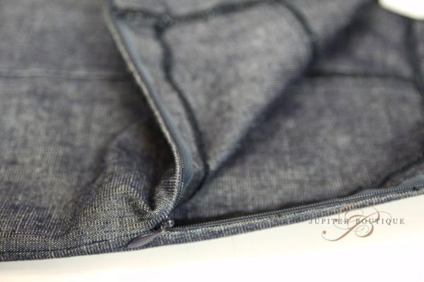 シャネル CHANEL スカート スーツ ジャケット デニム ネイビー 38_画像10