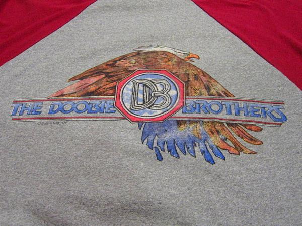 ビンテージ70's★THE DOOBIE BROTHERS ラグランTシャツ Size M★60's80'sドゥービーブラザーズバンド音楽古着卸_画像4