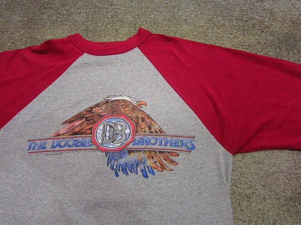 ビンテージ70's★THE DOOBIE BROTHERS ラグランTシャツ Size M★60's80'sドゥービーブラザーズバンド音楽古着卸_画像6