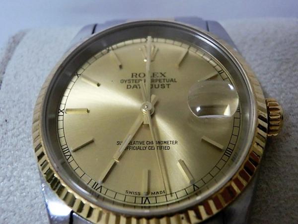 ロレックス 16233 P番 デイトジャスト メンズ 腕時計 自動巻き SS/K18YG ギャラ有 シャンパンゴールド文字盤☆ROLEX☆【中古】 bt1050_画像2