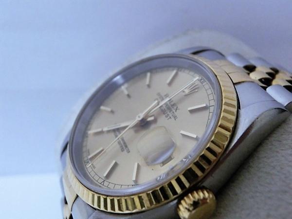 ロレックス 16233 P番 デイトジャスト メンズ 腕時計 自動巻き SS/K18YG ギャラ有 シャンパンゴールド文字盤☆ROLEX☆【中古】 bt1050_画像3
